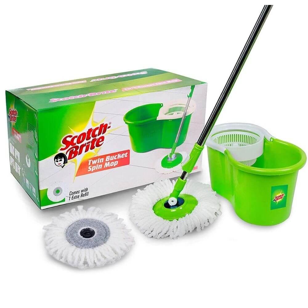 Scotch-Brite 2-in-1 Bucket Spin Mop